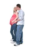 Adorable Pregnant Couple Royalty Free Stock Image
