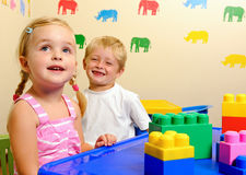Adorable preschool children Stock Photos