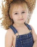 Adorable Preschool Farm Girl Royalty Free Stock Photos