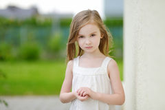 Adorable preschooler girl portrait outdoors Royalty Free Stock Photography