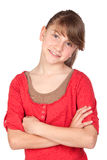 Adorable preteen girl Stock Photo