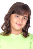 Adorable preteen girl. Isolated on white background Royalty Free Stock Photos
