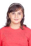 Adorable preteen girl. Isolated on white background Royalty Free Stock Images