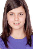 Adorable preteen girl. Isolated on white background Stock Images