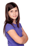 Adorable preteen girl Stock Images