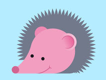 Adorable prickly cartoon hedgehog Stock Photo