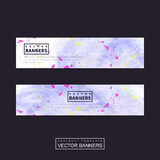 Adorable purple banner template design Royalty Free Stock Photo