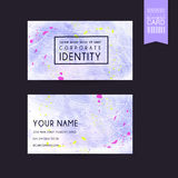 Adorable purple business card template design Royalty Free Stock Images
