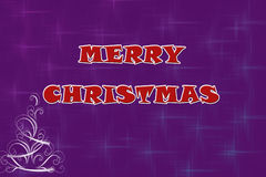 Adorable purple Christmas Background illustration Stock Photography
