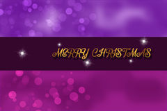Adorable purple Christmas Background illustration Royalty Free Stock Photography