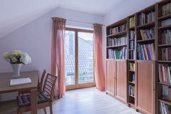 Adorable reading room for book lovers Royalty Free Stock Photo