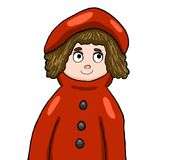 Adorable Red Riding Hood royalty free illustration