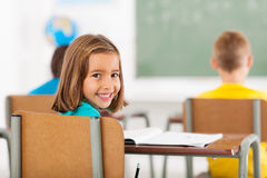 Adorable schoolgirl classroom Stock Photos