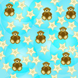 Adorable seamless background with bears Royalty Free Stock Photography