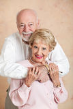 Adorable Senior Couple in Love Stock Image