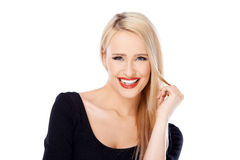 Adorable sexy woman smiling Royalty Free Stock Photo