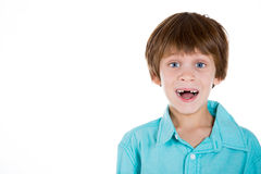 Adorable shocked and happy kid Stock Photo