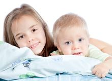 Adorable sister and brother Royalty Free Stock Photo
