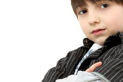 Adorable Six Year Old Casual Boy Stock Images