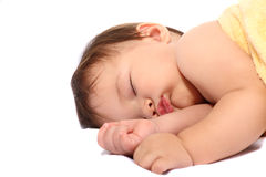 Adorable sleeping baby Royalty Free Stock Image