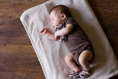 Adorable sleeping newborn baby Stock Photos