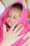 Adorable sleepy girl royalty free stock photography