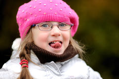 Free Adorable Small Girl In Bright Pink Hat Royalty Free Stock Photos - 16609338