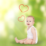 Adorable smiling baby Stock Images