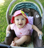 Adorable smiling baby girl Stock Photos