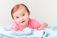 Adorable smiling baby girl Royalty Free Stock Images