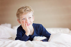 Adorable smiling boy Stock Images