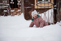 Adorable smiling child girl has fun Royalty Free Stock Photos