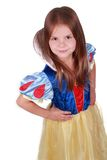 Adorable smiling girl in costume of fairy tale Stock Photography