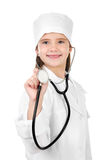Adorable smiling little girl dressed as a doctor Stock Image
