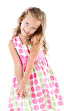 Adorable smiling little girl in princess dress isolated Royalty Free Stock Photos