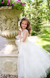 Adorable smiling little girl in princess dress Royalty Free Stock Images