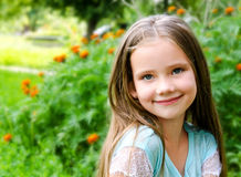 Adorable smiling little girl in summer day Royalty Free Stock Image