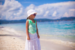 Adorable smiling little girl on tropical vacation Stock Photo