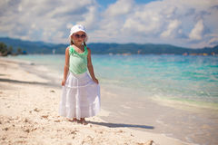 Adorable smiling little girl on tropical vacation Royalty Free Stock Photo