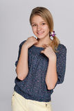 Adorable smiling preteen girl Stock Photo