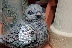 Adorable stone bird Royalty Free Stock Image