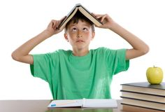 Adorable student boy Stock Image