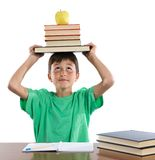 Adorable student boy Stock Images