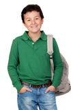 Adorable student dressed in green Stock Photography