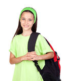 Adorable student girl with blue eyes Royalty Free Stock Photos