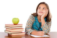 Adorable student thinking Royalty Free Stock Photography