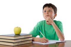 Adorable student thinking Royalty Free Stock Image
