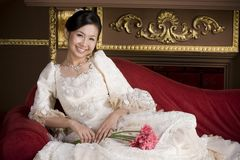 Adorable sweet asian bride 1 Royalty Free Stock Photos