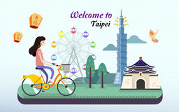 Adorable taiwan travel poster Stock Photography