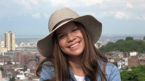 Adorable Teen Female Wearing Hat Royalty Free Stock Image